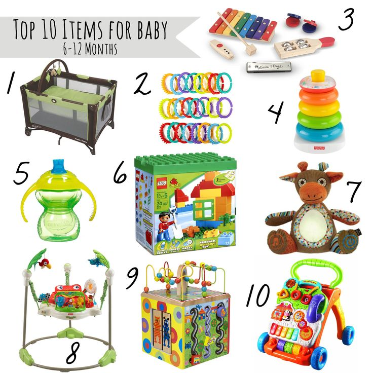 From LEGO Duplos, to a jumperoo, to sippy cups, this list of Top Ten Toys for Babies 0-6 Months is guaranteed to make shopping for baby a little easier.