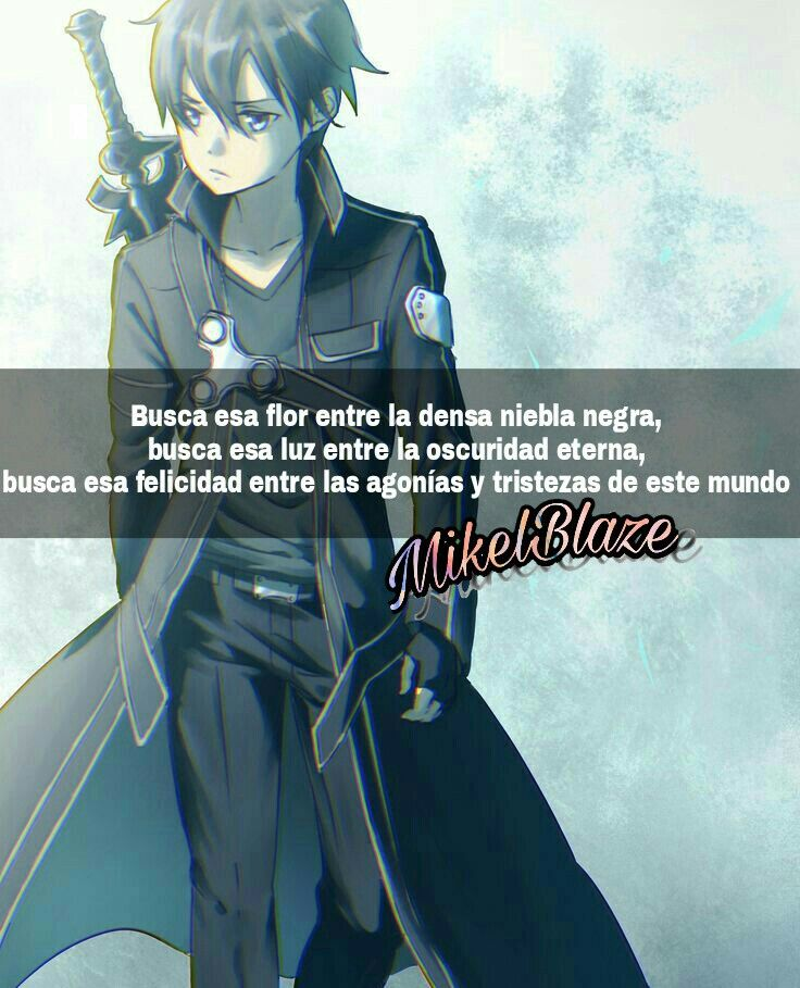 Frases anime, kirito, kazuto kirigaya, sword art online