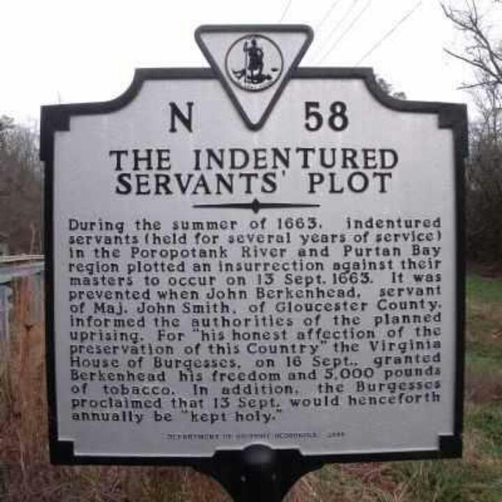 Indentured Servants in Colonial Virginia
