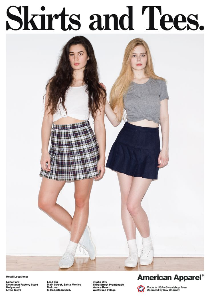 Skirts and Tees by #AmericanApparel
