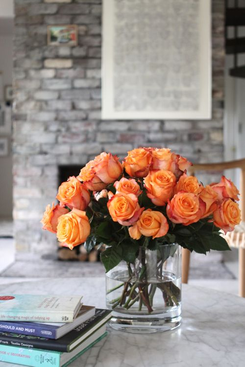Fiery orange roses. Grown on a volcano in Equador and shipped to your door.