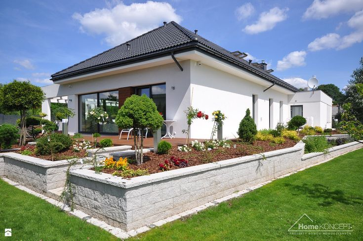 Realizacja HomeKONCEPT 26 - zdjęcie od HomeKONCEPT Projekty Domów Nowoczesnych - Ogród - Styl Nowoczesny - HomeKONCEPT Projekty Domów Nowoczesnych