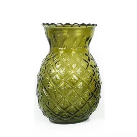 We love this funky glass moulded Tropical Green Pineapple Shaped Glass Vase from designers Temerity Jones.