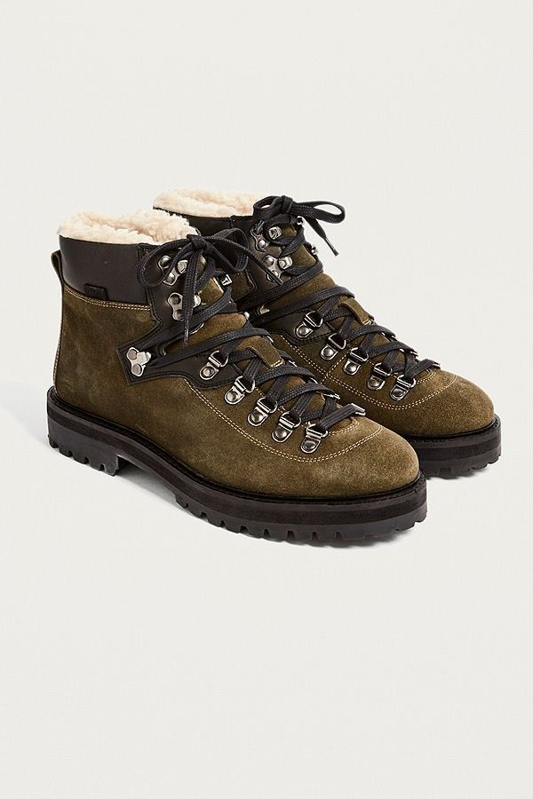 28472054e83 UO Baxter Leather + Shearling Hiker Boots