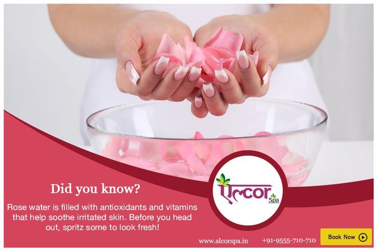Did you know? #AlcorSpa #RoseWater #Benefits