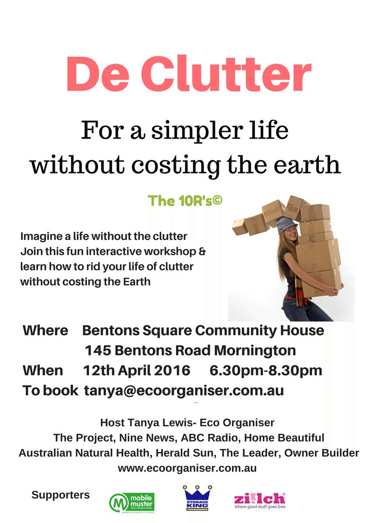 DeClutter For a simpler life without costing the earth The 10R's© ...