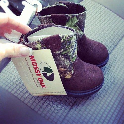 Mossy Oak Booties! :))