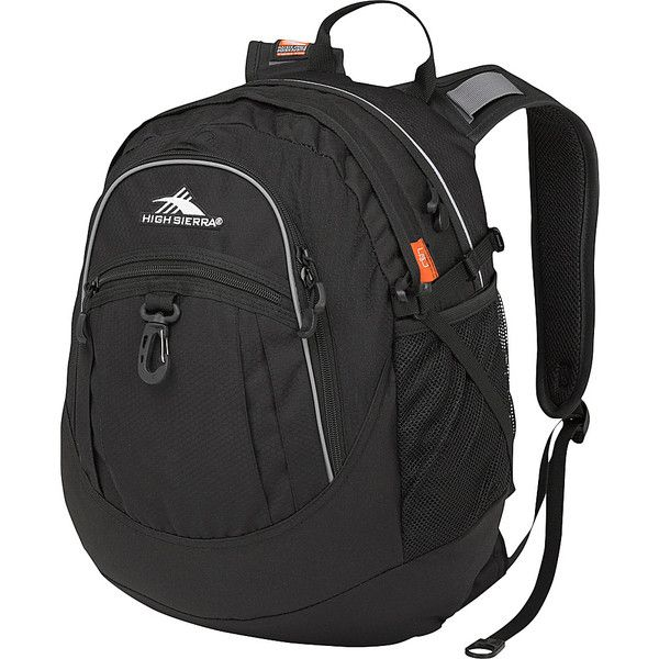 High Sierra Fat Boy Backpack (285 ZAR) ❤ liked on Polyvore featuring bags, backpacks, black, school & day hiking backpacks, black rucksack, padded backpack, strap backpack, high sierra and high sierra daypack