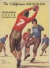 1936 CALIFORNIA BEARS vs U.C.L.A BRUINS football program CALIFORNIA GRIDERON - 1936, Bears, Bruins, California, FOOTBALL, GRIDERON, PROGRAM, U.C.L.A