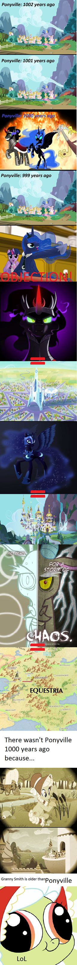 Nightmare moon actually attacked the castle of the two sisters in the everfree forest. Not canterlot