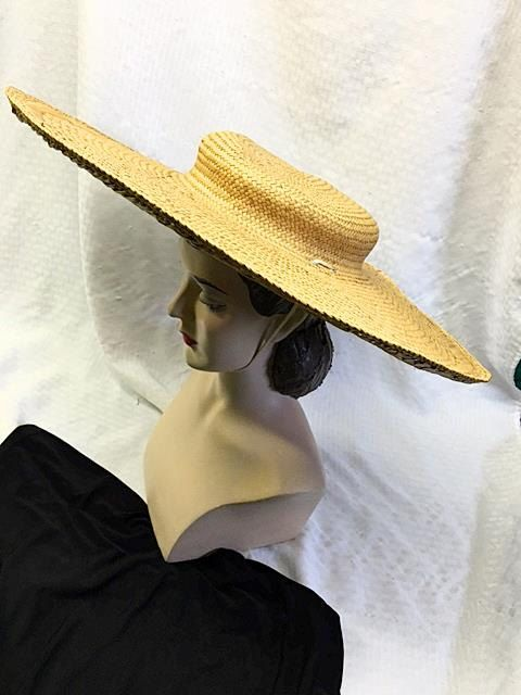 Vintage Wide Brim Sun Hat/Beach Hat . Extra Wide by bonitalouise
