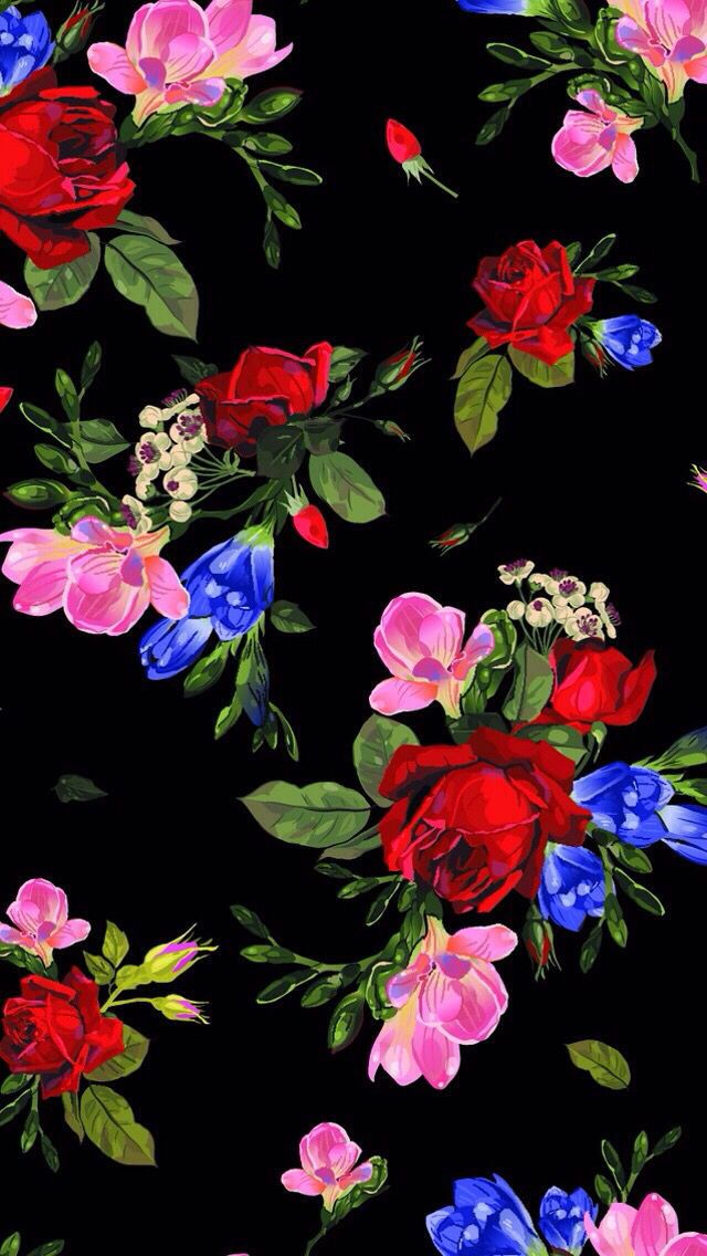 Retro Floral Wallpaper Iphone Wallpapers