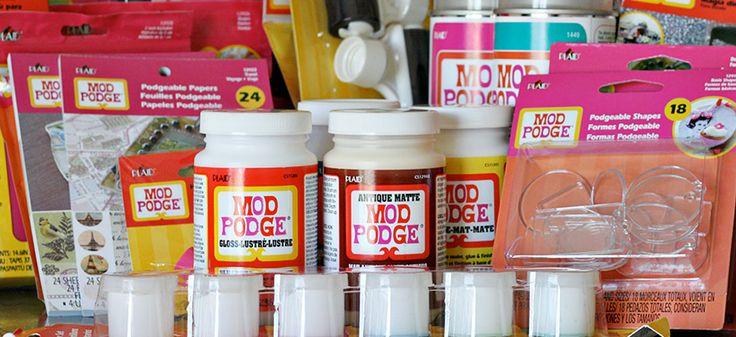 Connaissiez vous le mod podge endroits visiter pinterest bricolage et diy - Colle mod podge ...