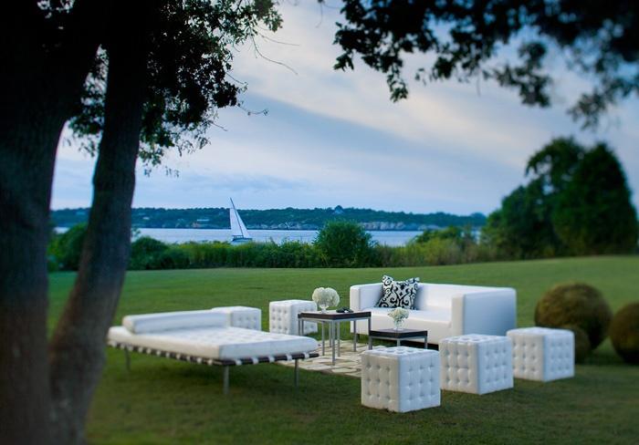 Outdoor lounge @ Castle Hill Inn, Newport RI