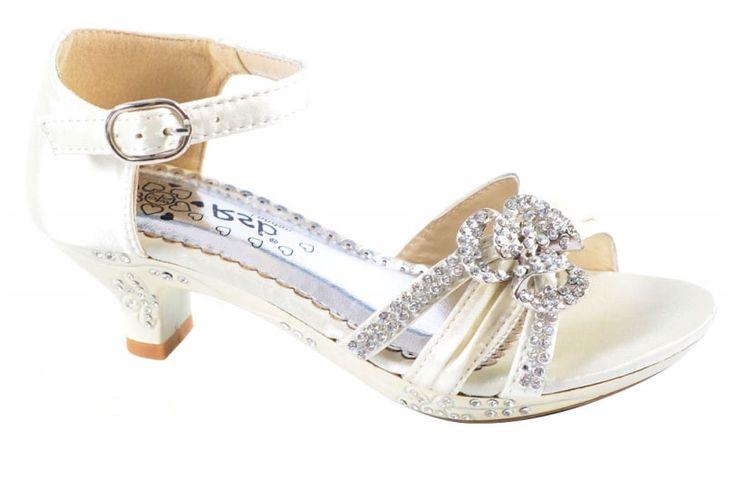 """Παπούτσια για Παρανυφάκια - Επίσημα Παπούτσια για Κορίτσια :: Παιδικά Σανδάλια Με Τακούνια Σε ΙΒΟΥΑΡ Με Κρυσταλλα Για Παρανυφάκι, Γάμο Βάπτιση Πάρτι """"Golden Girl"""" - http://www.memoirs.gr/"""
