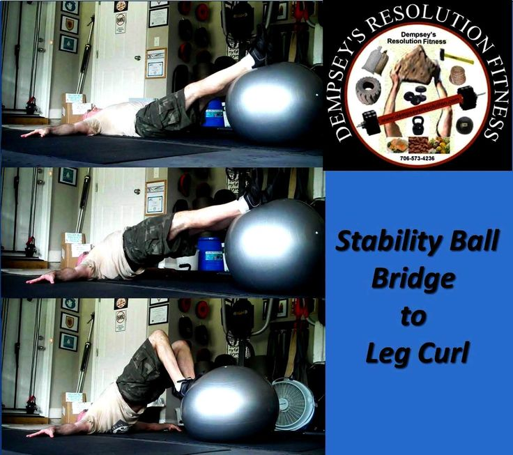 Stability Ball Hamstring Curl T Nation: Stability Ball Bridge To Leg Curl