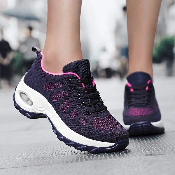 Women S Walking Shoes Casual Sneakers Mesh Air Cushion Running Shoes Lady Girls Platform Shoes Eu 35 42 Wish In 2020 Casual Shoes Women Sneakers Walking Shoes Women Casual Shoes Women