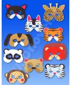 mascaras de animales foamy - Buscar con Google