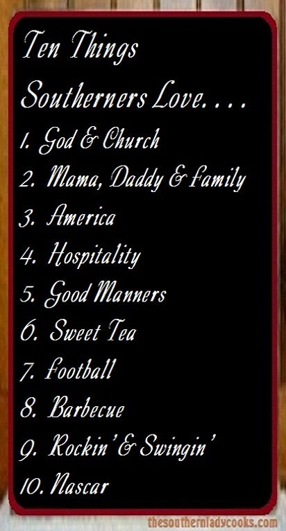Feel free to add to the list in the comments and check out more Southern Thangs on our website.