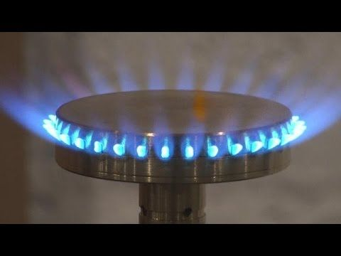 Part 4 of 4 HHO Gas 4 Burners Comparison HHO Gas Coleman camping fuel or hexane fuel 3-18-2015 - YouTube