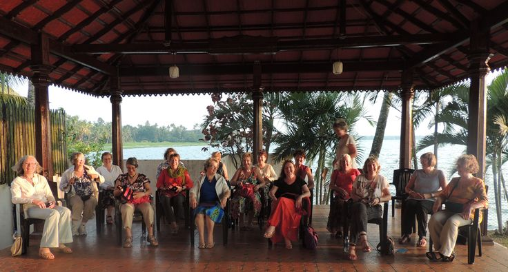 A group of happy singers in Kerala, India.