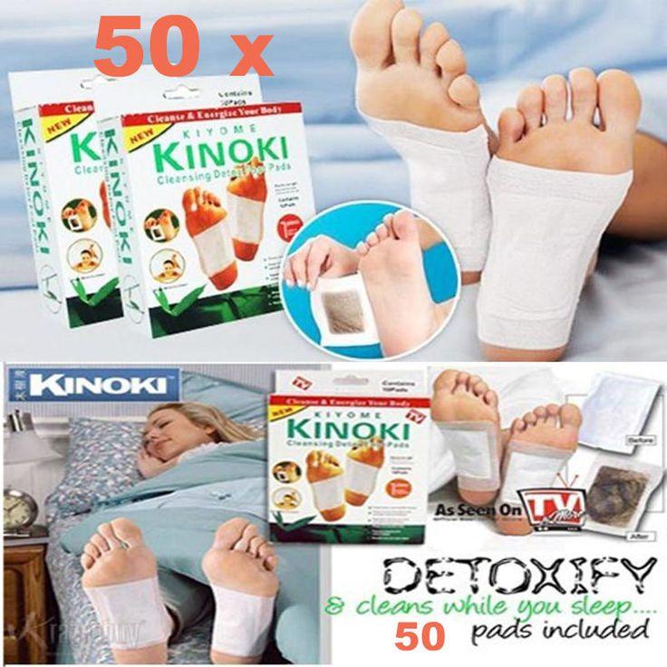 50 Cleansing Detox Foot Pads Patches KINOKI - FREE SHIPPING #KinokiKiyome