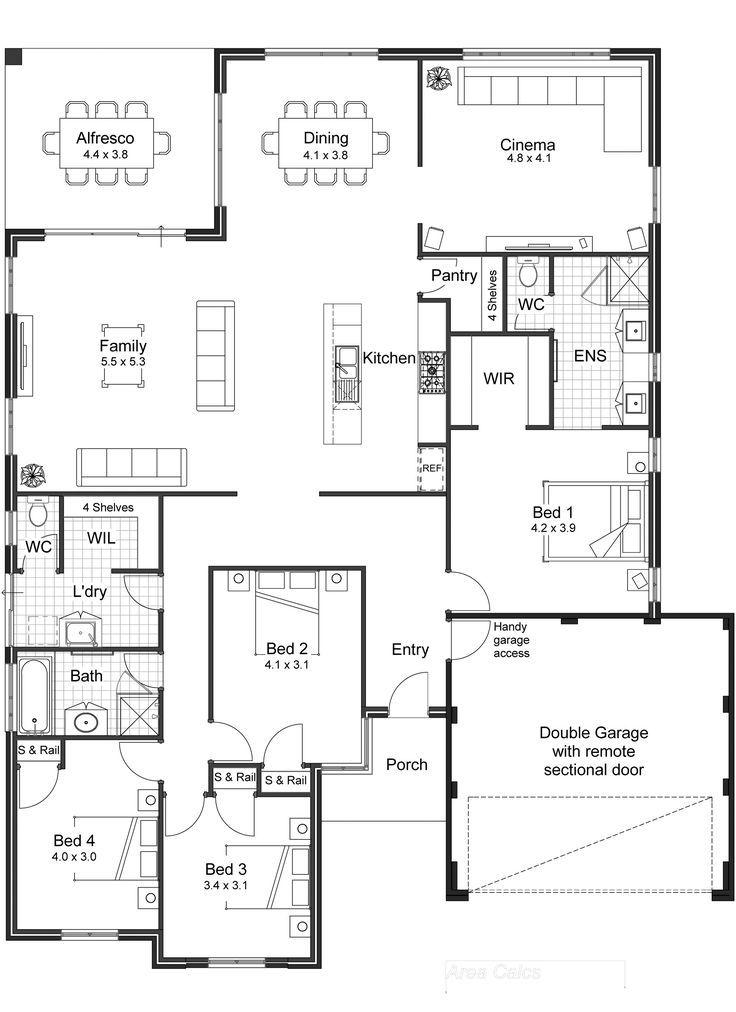 Open Plan Living The Sinatra Unique House Plans Open Floor House Plans Open House Plans