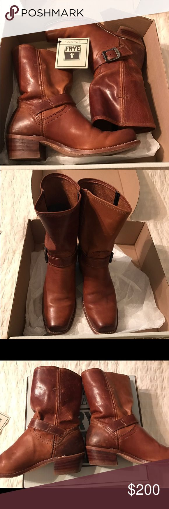Frye Cavalry Strap 8L Boots - Cognac sz 9 Frye Cavalry Strap 8L Boots - Cognac sz 9. Beautiful boots in excellent condition, I just don't reach for them anymore. Super comfortable and they go with everything! Frye Shoes Heeled Boots