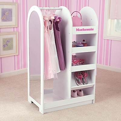 Nice Girls Dress Up Storage Wardrobe With Mirror | OneStepAhead.com