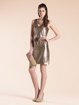 Something completely different for a bridesmaid, sequins! It would compliment an ivory wedding dress.
