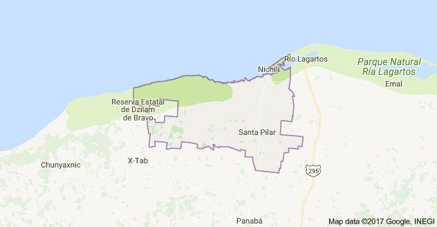 Mapa de San Felipe, Yucatán