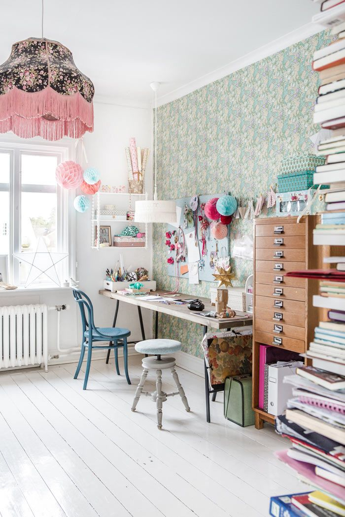 Scandinavian Styling in a Swedish Homestead | Design*Sponge ~Amazing Craft Room, Art Studio