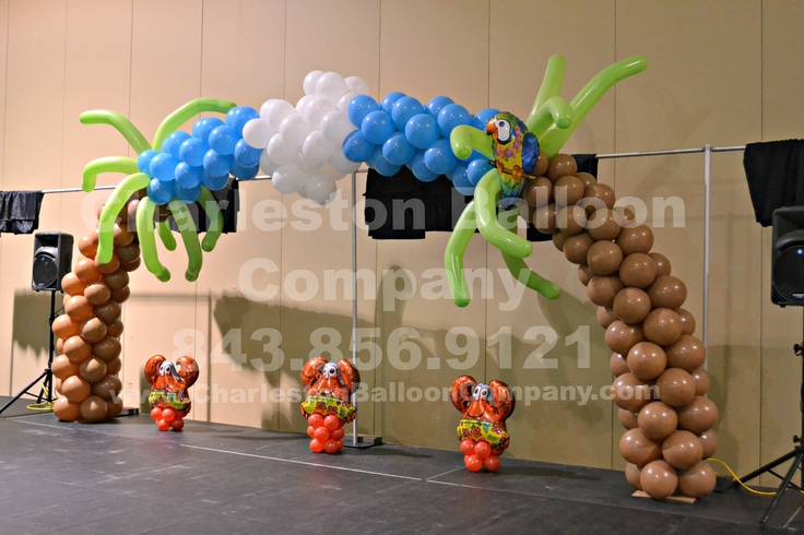 Pinterest the world s catalog of ideas for Balloon decoration for stage