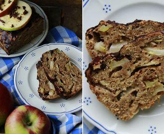 Jablečný chlebíček s čokoládovou polevou