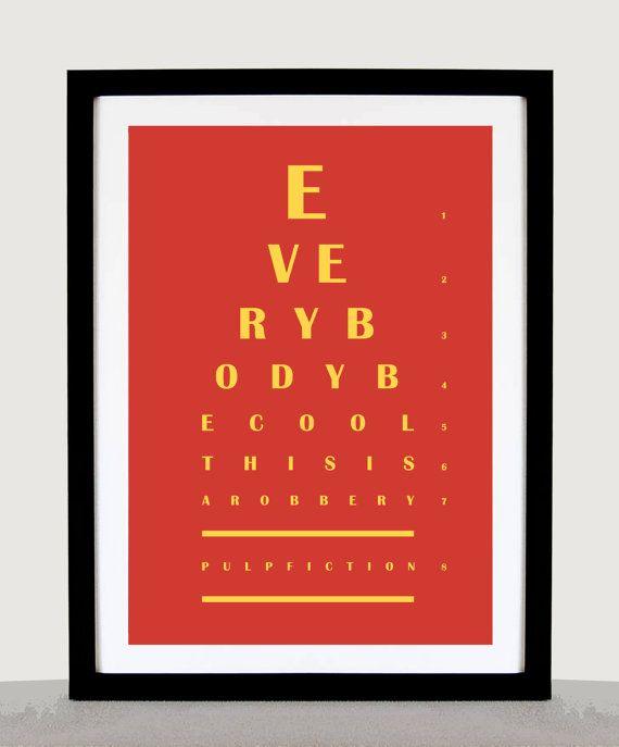 Pulp Fiction Film  Tout le monde être Cool il par EyeChArtist, £5.50