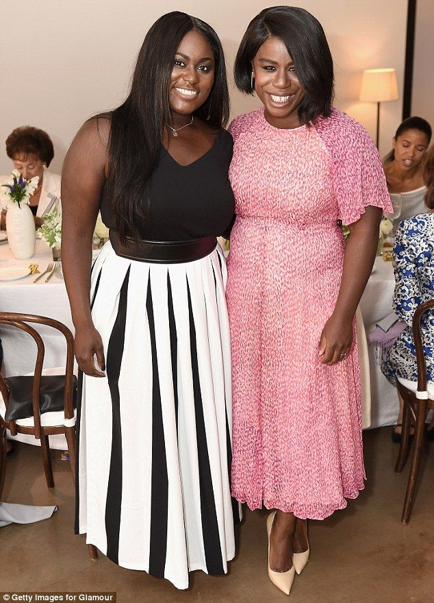 Work-related: The OITNB actress was joined by her co-star Danielle Brooks, 26...
