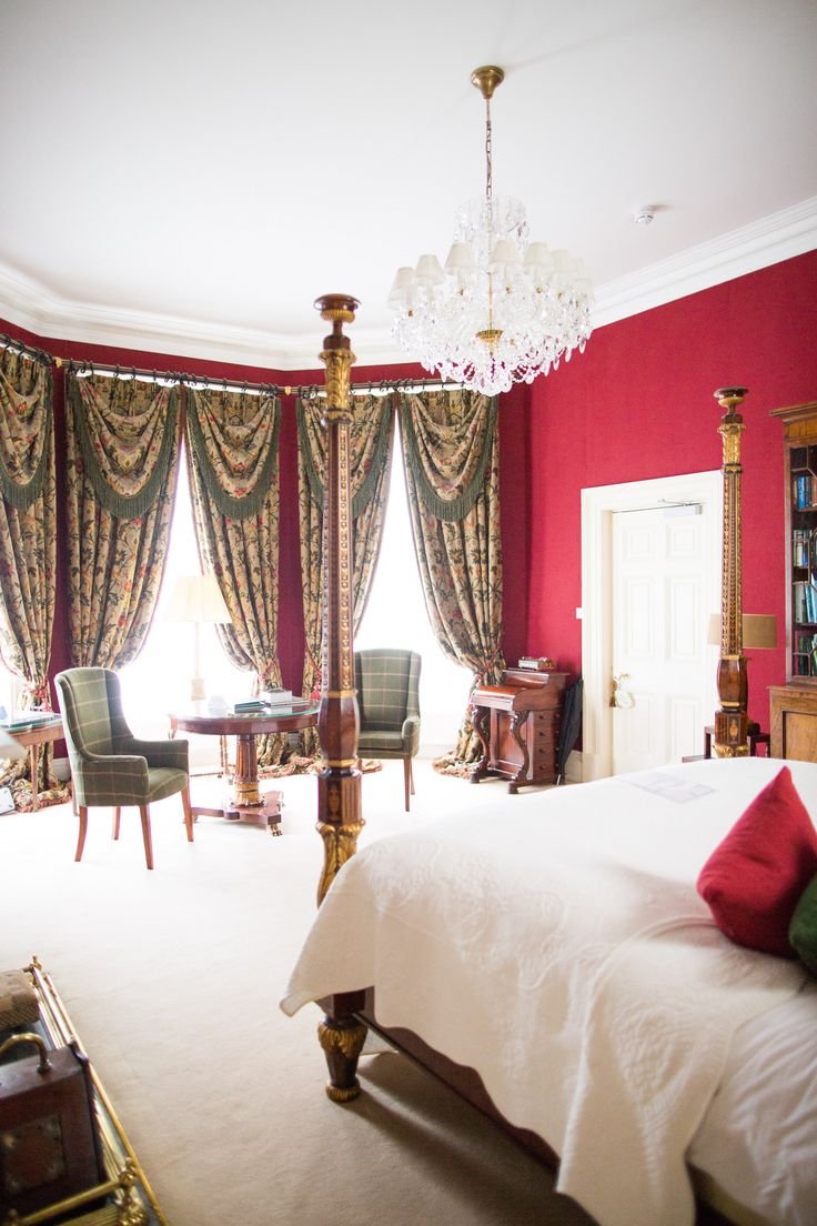 One of the wonderful bedrooms in Tankardstown House.