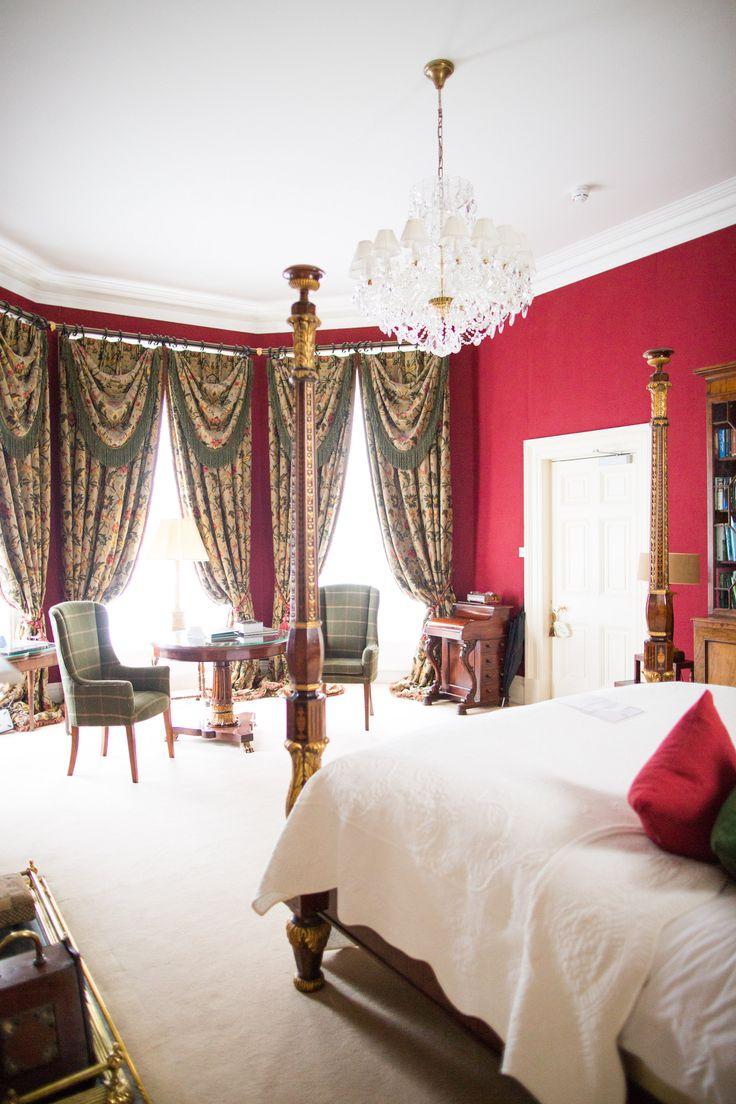 One of the wonderful bedrooms in Tankardstown House.