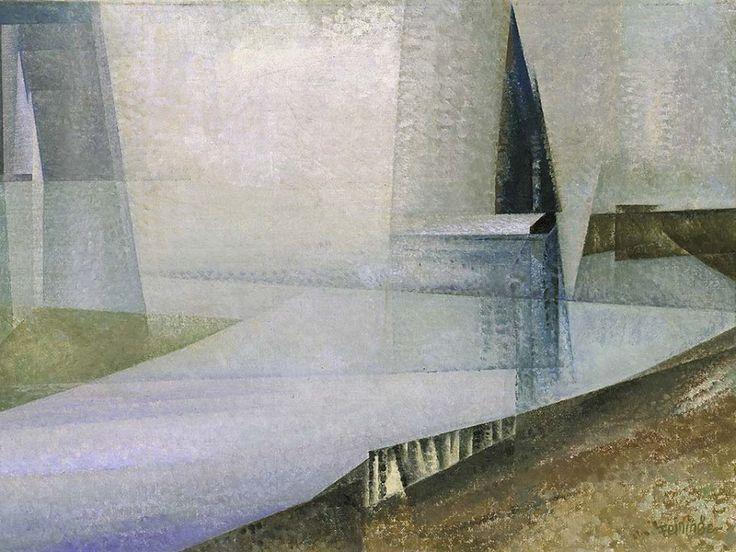 colin-vian:   Lyonel Feininger (1871 - 1956) Regamündung III, 1929