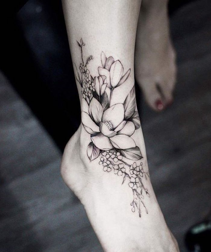 ▷ 1001 Flower Tattoo Ideas and information about their meaning   – Rose