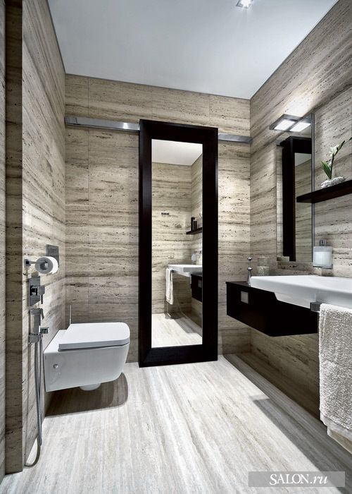 Salle de bains - porte coulissante/miroir