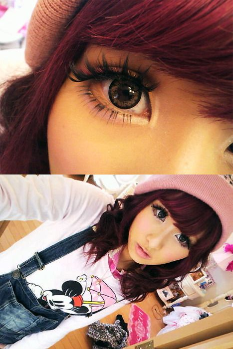 Famous 14 Year Olds Guys: Gyaru Circle Lenses. As Seen On Famous Japanese Popteen
