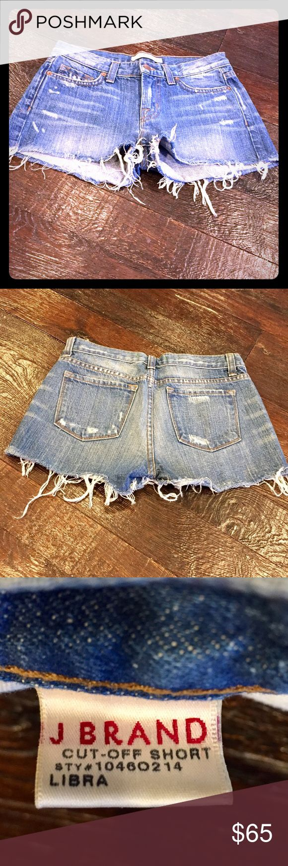 J Brand Cut-Off Denim Shorts - Size 26 J Brand Cut-Off Denim Shorts - Like New!   Size: 26, Style #10460214, Color: Libra, 100% Cotton, Retail: $125.  Worn just ONE time, these shorts are in EXCELLENT condition! J Brand Shorts Jean Shorts