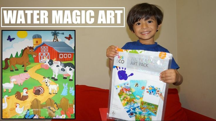 Magic Water Art pack is fantastic for teaching little ones about painting and colouring in, but without the mess! Just fill the colouring pen with water and when the water tip touches the picture, the drawing comes to life with colour!  Suitable for ages 3+ years. Great for travelling and outings.  Includes: 3 x large sheets, 3 x small sheets, 1 x water pen  #ArhamPlayTime