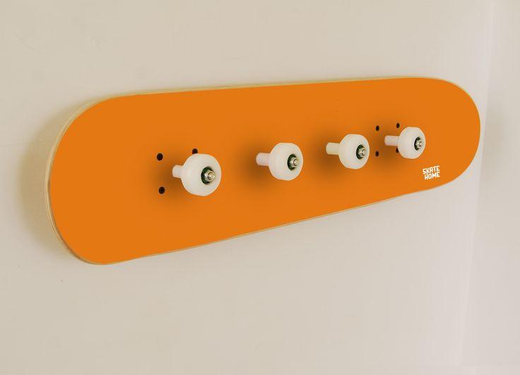 furniture for skateboarder in orange color, Cool hooks