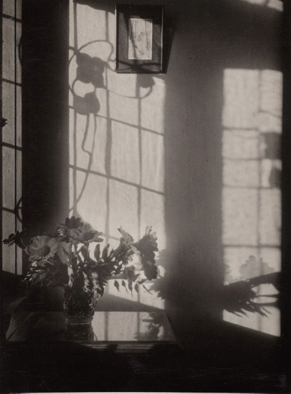 By my window by Olive Cotton 1930. Olive Cotton was an Australian photographer who focused largely on light and shadow in her artistic work. The Tea Cup Ballet (1935) is arguably one of her most recognised studio images. This photograph however shows the use of natural light and the simple beauty that can be found within the home.