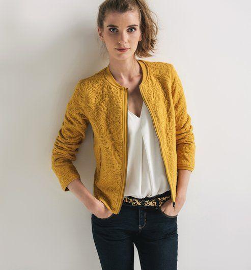 Veste blazer femme jaune moutarde les vestes la mode sont populaires partout dans le monde - Blazer jaune moutarde ...