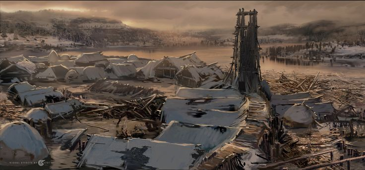 "ArtStation - Observation tower, the concept for the movie ""He is dragon."", Valeriy Zrazhevskiy"
