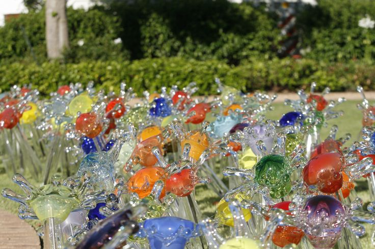 Garden decor by Red Hot Glass, contemporary glassblowing studio