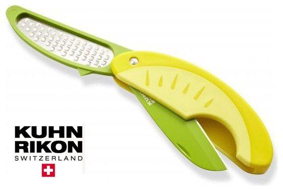 COLTELLO PER AGRUMI  Nuovo coltello per la pulizia di limoni e agrumi e grattugia per ricavarne la scorza.